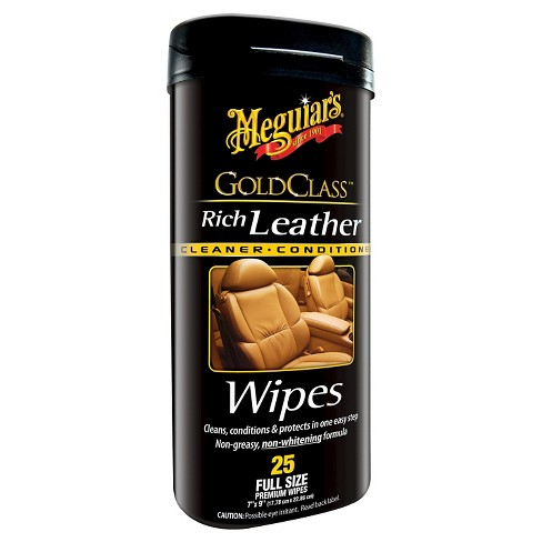 Meguiar's Gold Class Rich Leather Cleaning and Conditioning Wipes 25-ct. - image 1 of 1