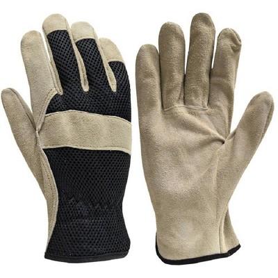 True Grip Leather Work Glove Brown