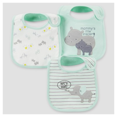 Baby 3pk Elephant Bib - Just One You™ Made by Carter's® Mint