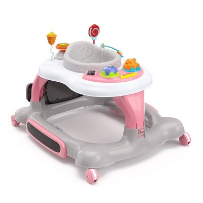 Storkcraft 3-in-1 Activity Walker and Rocker with Jumping Board and Feeding Tray - Pink