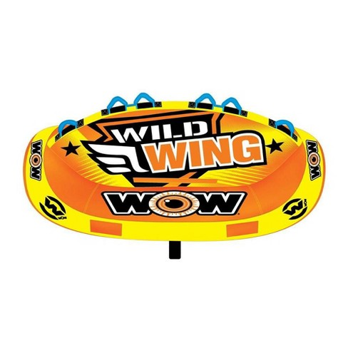 World of Watersports 18-1130 Wild Wing 2 Rider Inflatable Towable Tube, Red - image 1 of 4