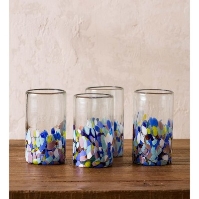 VivaTerra Riviera Recycled Pint Glass, Set of 4