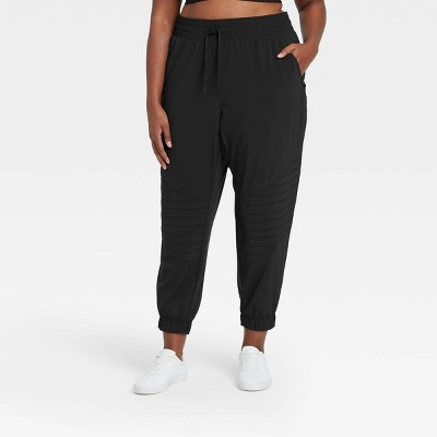 Women's Stretch Mid-Rise Woven Moto Pants - All in Motion™