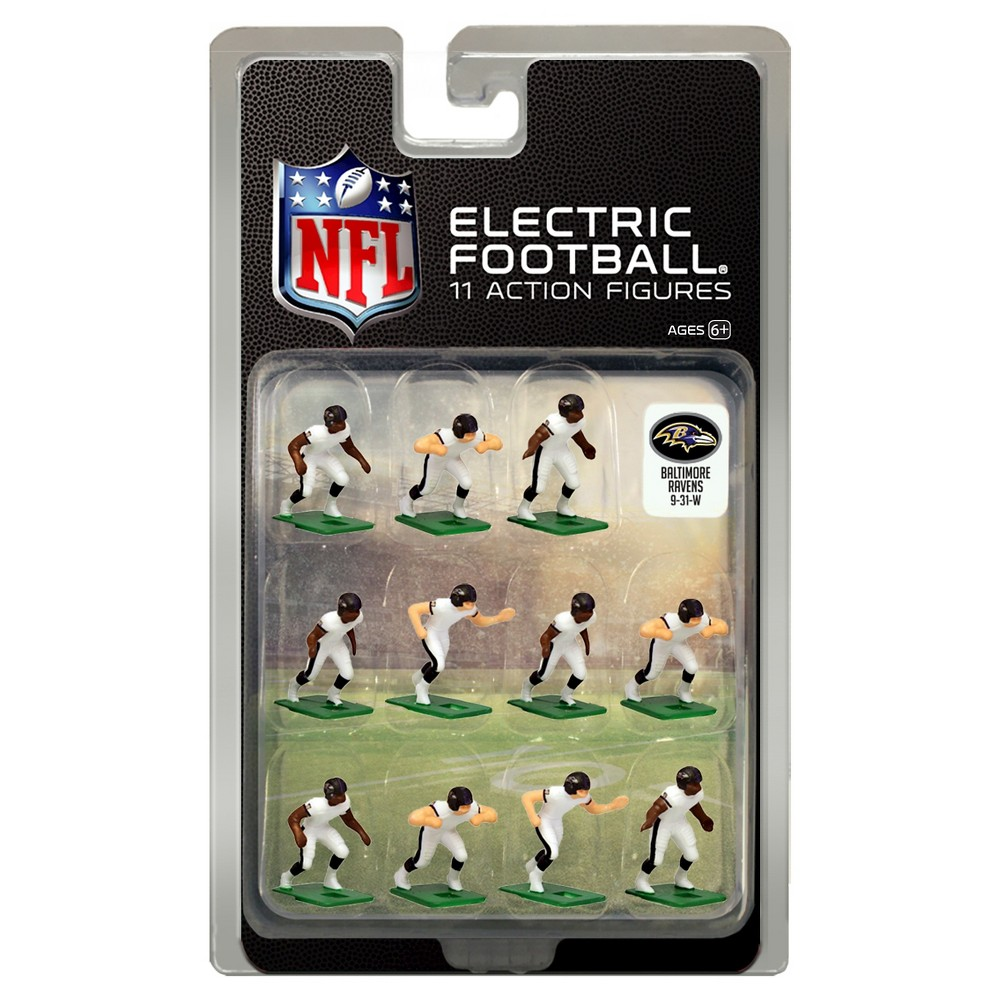 Nfl Baltimore Ravens Tudor Games Away Uniform Electric Football Action Figure Set