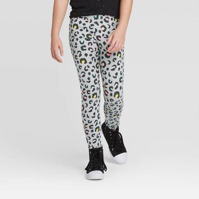 Girls' Animal Print Leggings - Cat & Jack™ Gray S