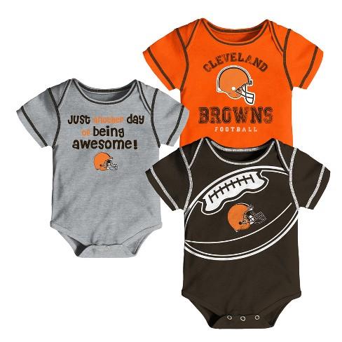 online retailer e7324 10da4 Cleveland Browns Baby Boys' Awesome Football Fan 3pk Bodysuit Set - 3-6 M