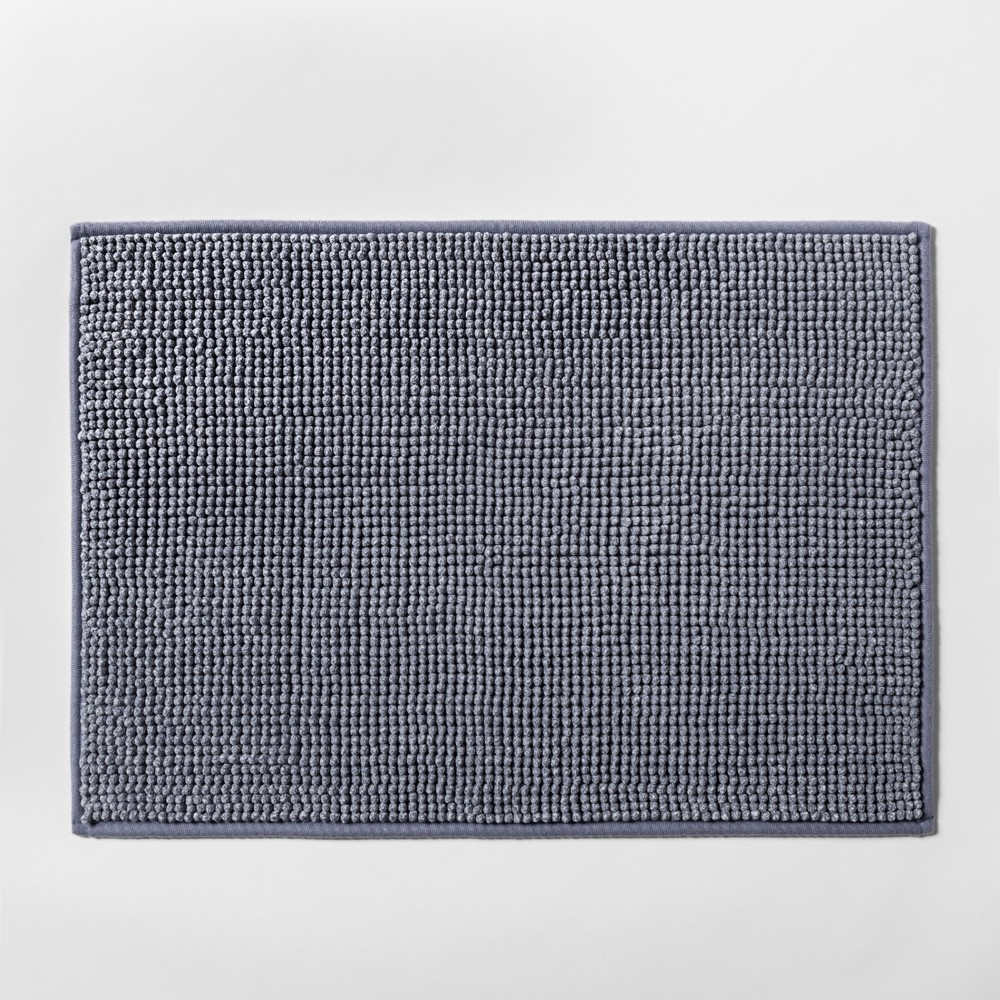 "Image of ""17""""x24"""" Heathered Bath Rug Blue - Made By Design"""