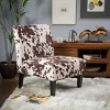 Set of 2 Kassi Cowhide Print Upholstered Accent Chair - Christopher Knight Home - image 2 of 4