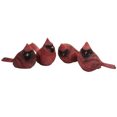 "Home Decor 2.75"" Cardinal Figurines Red Bird Visitor  -  Decorative Figurines"