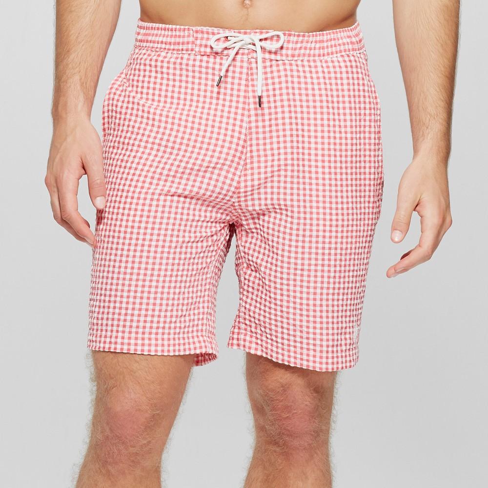 Men's 9 Trunks Surf & Swim Co Jake Shorts Swim Shorts - Reef/White M, Red