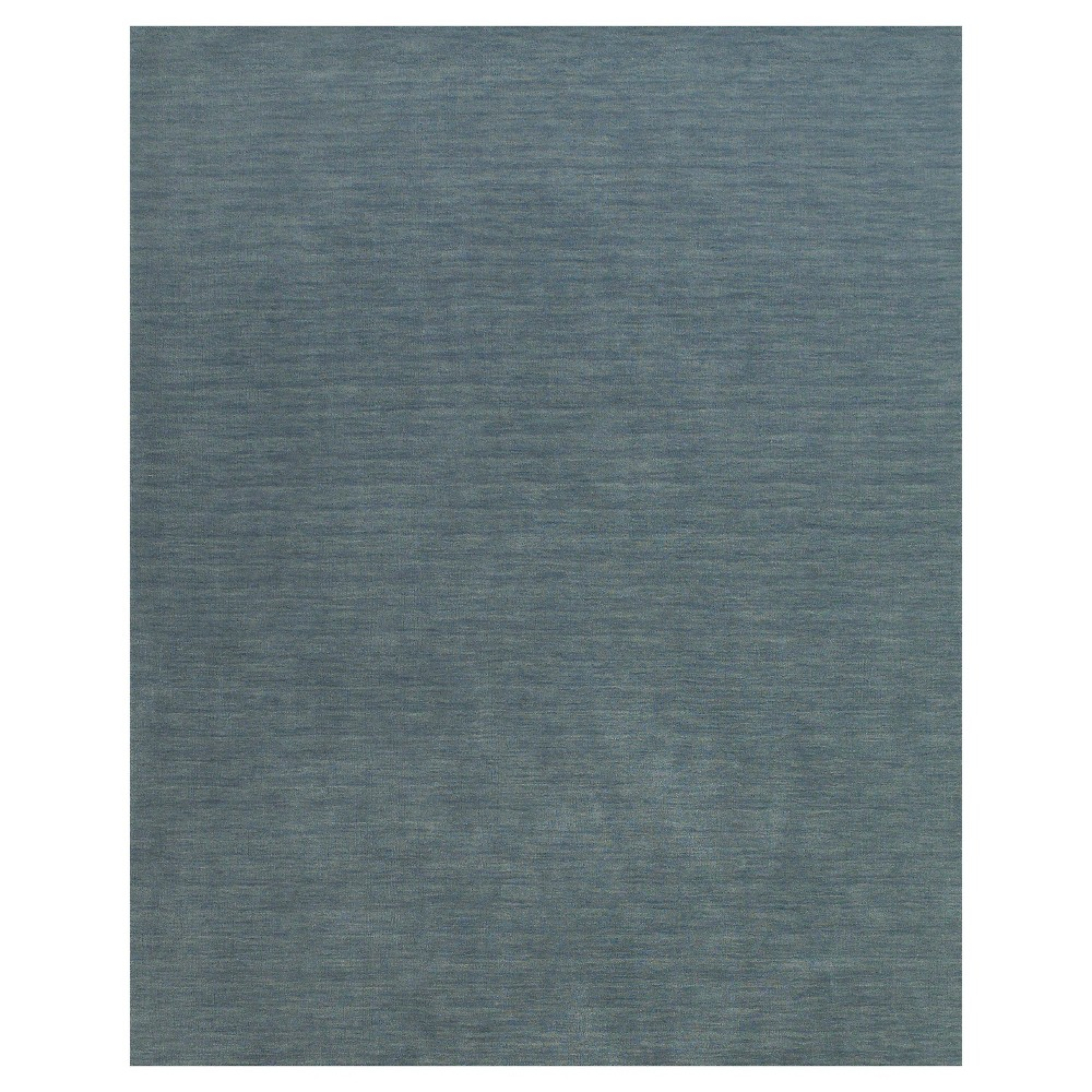 8'X11' Solid Woven Area Rugs Smoke (Grey) - Room Envy