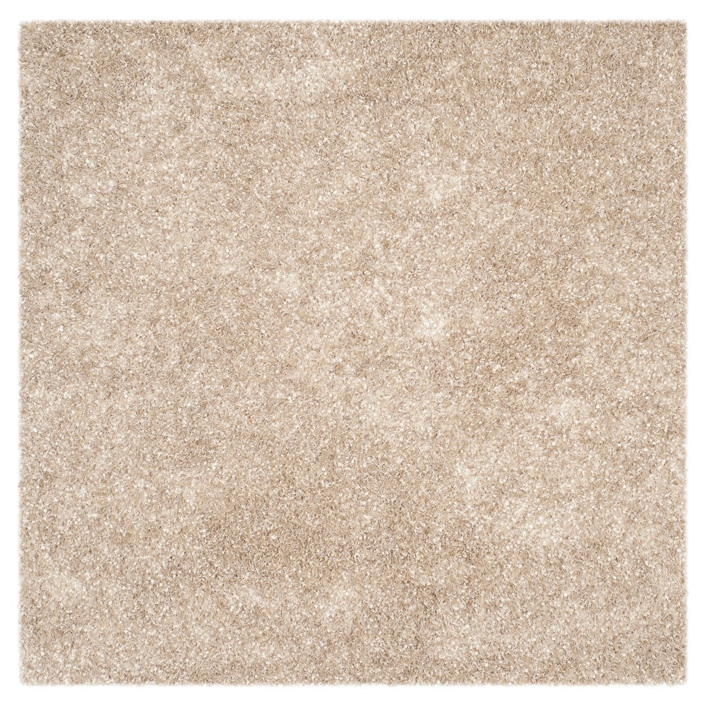 Natural Solid Tufted Square Area Rug - (5'X5') - Safavieh