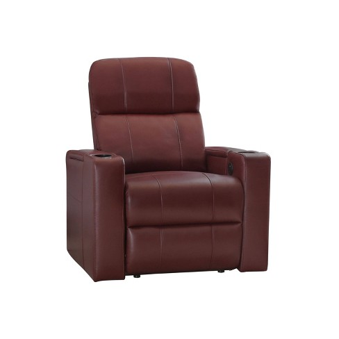 Ronnie Leather Theatre Recliner - Abbyson - image 1 of 4