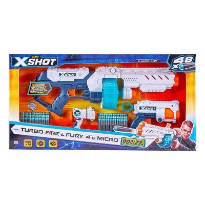 Zuru X-Shot Combo Pack Turbo Fire Fury 4 and Micro