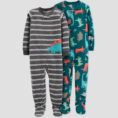 0224ccc37b2b Toddler Boys  Fleece Stripe Dino Pajama Set - Just One You® Made By ...