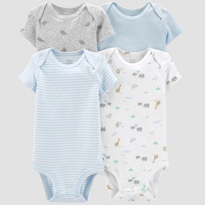 Baby Boys' 4pk Bodysuits - Just One You® made by carter's Blue/Gray/White 3M