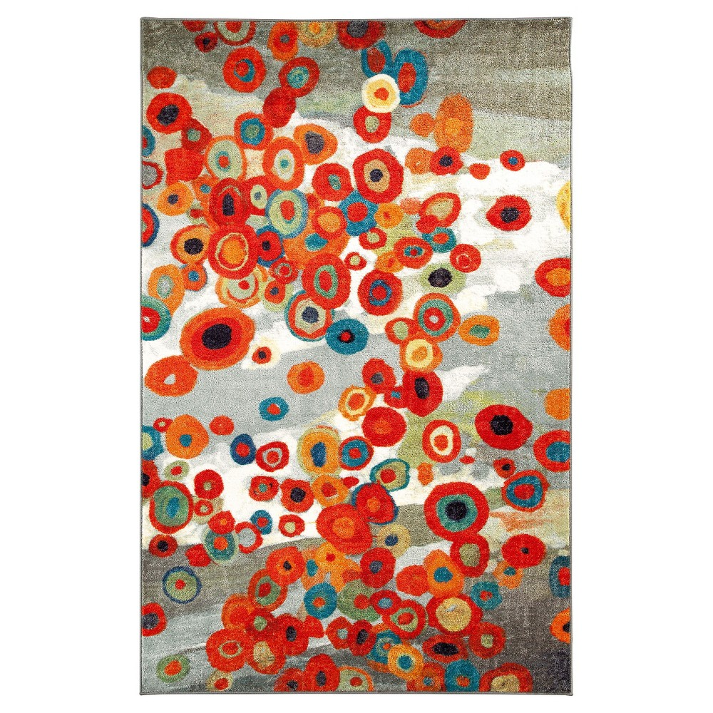Image of 5'X8' Tossed Floral Area Rug - Mohawk, Size: 5'X8'