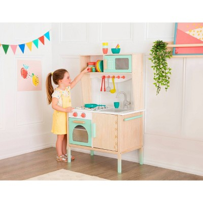 B. Toys Wooden Play Kitchen And Accessories by B. Toys