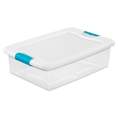 Sterilite 32-Quart Clear Stackable Latching Storage Box Container (30 Pack)