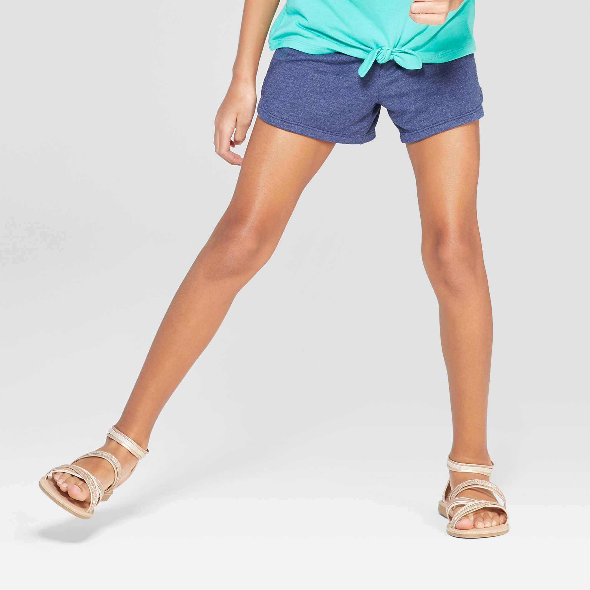Girls' Knit Shorts - Cat & Jack Navy (Blue) XL
