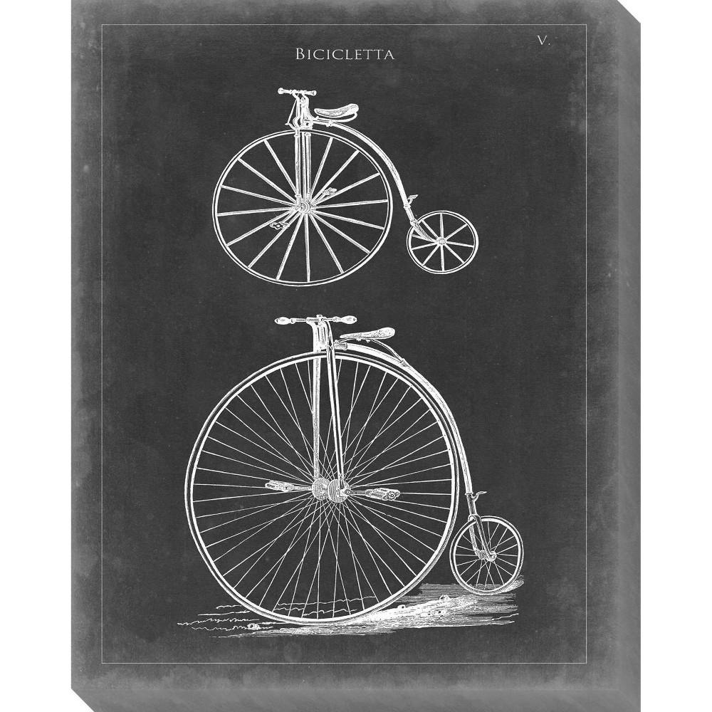 Image of Vintage Bicycle I Unframed Wall Canvas Art - (24X30)