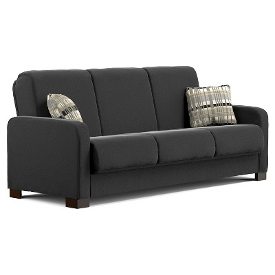 Thora Convert-a-Couch Black - Handy Living