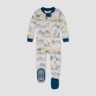 Burt's Bees Baby® Baby Boys' Mountains Snug Fit Footed Pajama - Blue 12M