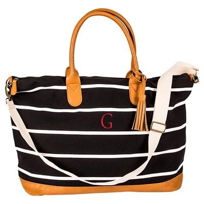 Cathy's Concepts Women's Monogram Weekender Bag - Black Stripe G