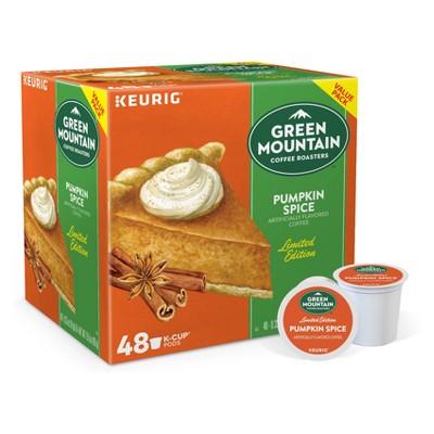 48ct Green Mountain Coffee Pumpkin Spice Keurig K-Cup Coffee Pods Flavored Coffee Light Roast
