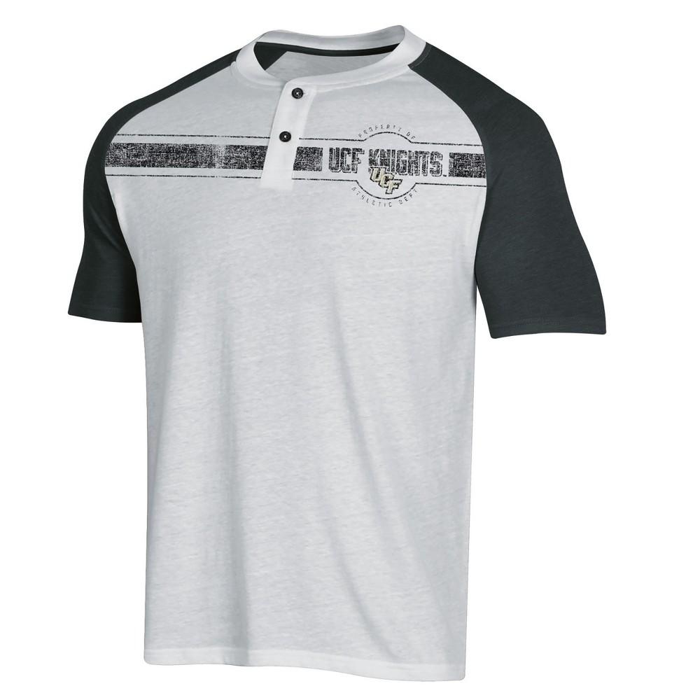 NCAA Men's Raglan Henley T-Shirt Ucf Knights - L, Multicolored