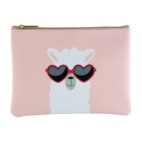 Ruby+Cash Zip Cosmetic Bag - Sunshine Llama - image 1 of 1