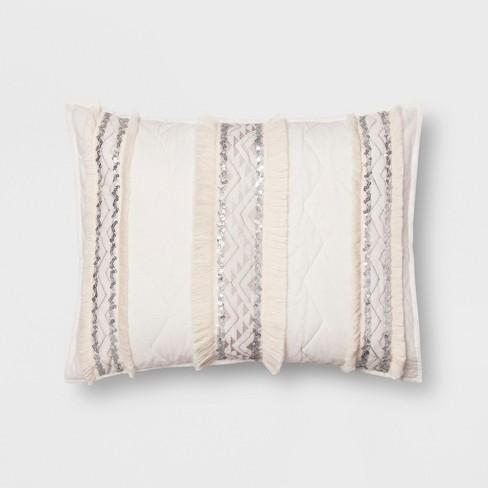 Moroccan Wedding Blanket.White Moroccan Wedding Blanket Sham Standard Opalhouse