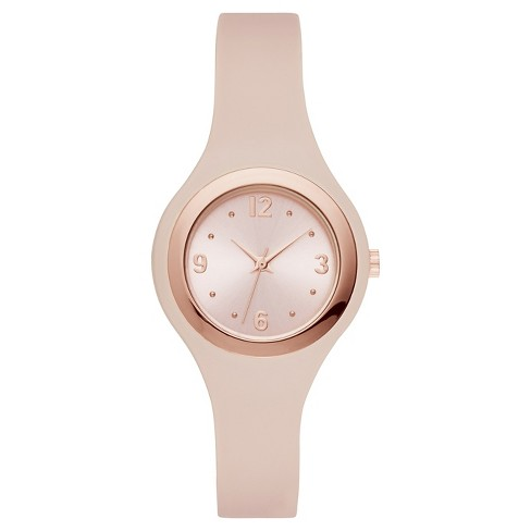 Women's Rubber Strap Watch - Xhilaration™ Pink/Rose Gold - image 1 of 1