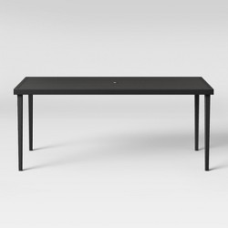 Fairmont Steel Patio Dining Table Black - Threshold™