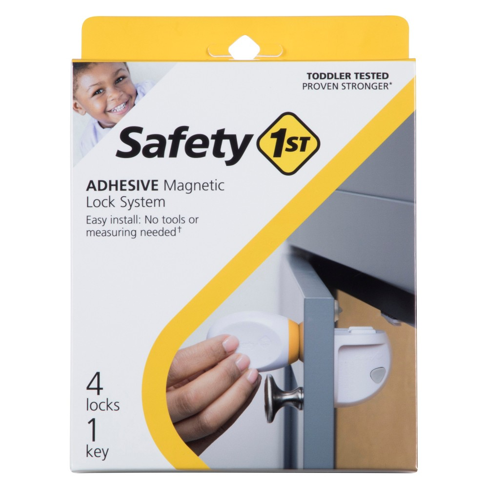 Image of Safety 1st Adhesive Magnetic Lock System - 4pk, White