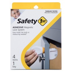 Safety 1st Adhesive Magnetic Lock System - 4pk