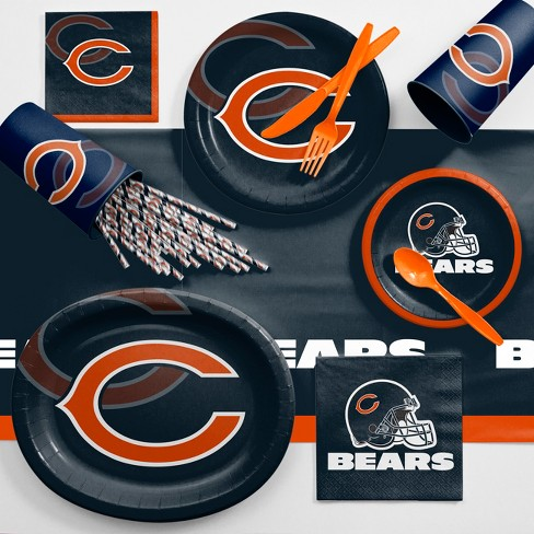 NFL Black And Orange Chicago Bears Ultimate Fan Party Supplies Kit - image 1 of 1