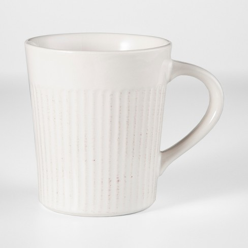 16oz Stoneware Harrison Mug White - Threshold™ - image 1 of 1