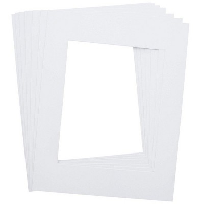 Genie Crafts 15-Pack White 11 x 14 Photo Frames Picture Matted Frames Boards for 8 x 10 Photos