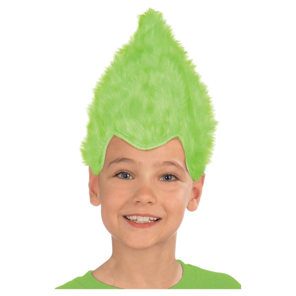 Kid's Fuzzy Wig -Green, Kids Unisex, Multi-Colored