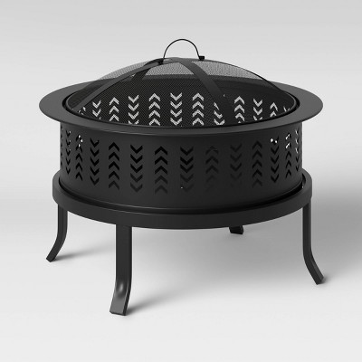 "26"" Chevron Outdoor Wood Burning Fire Pit - Threshold™"