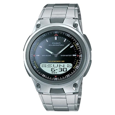 Men's Casio Analog and Digital Bracelet Watch - Black (AW80D-1AV)