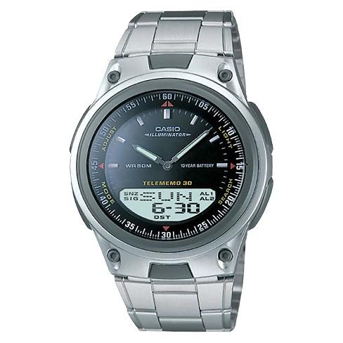 Men's Casio Analog and Digital Bracelet Watch - Black (AW80D-1AV) - image 1 of 1