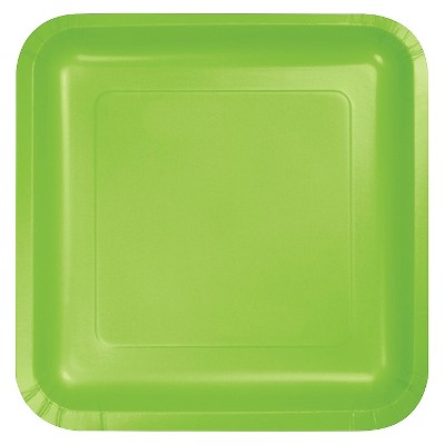 "Fresh Lime Green 7"" Dessert Plates - 18ct"
