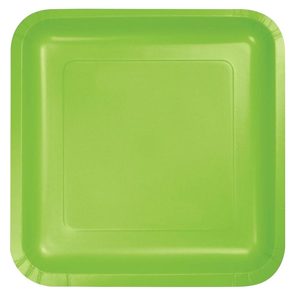 Fresh Lime Green 7 Dessert Plates - 18ct