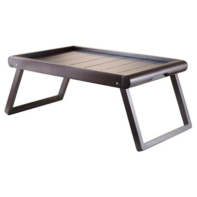 Winsome Elise Breakfast Tray in Espresso Finish