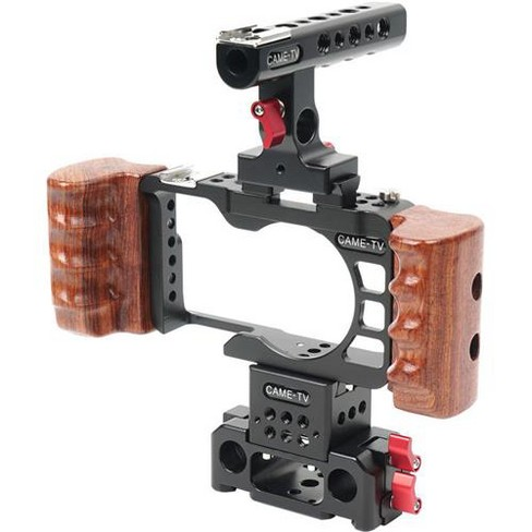 Came-TV Rig with Wooden Handle for Sony a6300 Camera - image 1 of 1