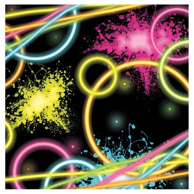 16ct Glow Party Cocktail Beverage Napkins