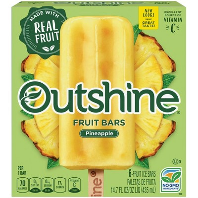 Outshine Pineapple Frozen Fruit Bar - 6ct