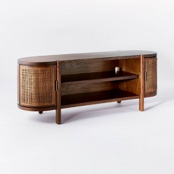 """Portola Hills Caned Door TV Stand for TV's up to 60"""" Walnut - Threshold™ designed with Studio McGee"""